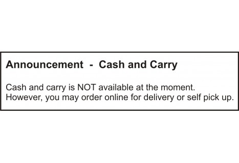 Announcement - Cash & Carry